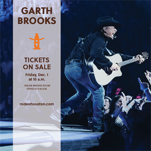 Buy your Garth Brooks Tickets Today, Friday, Dec. 1